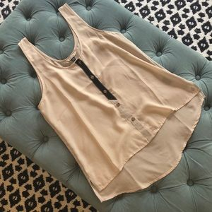 Volcom sheer button front tank